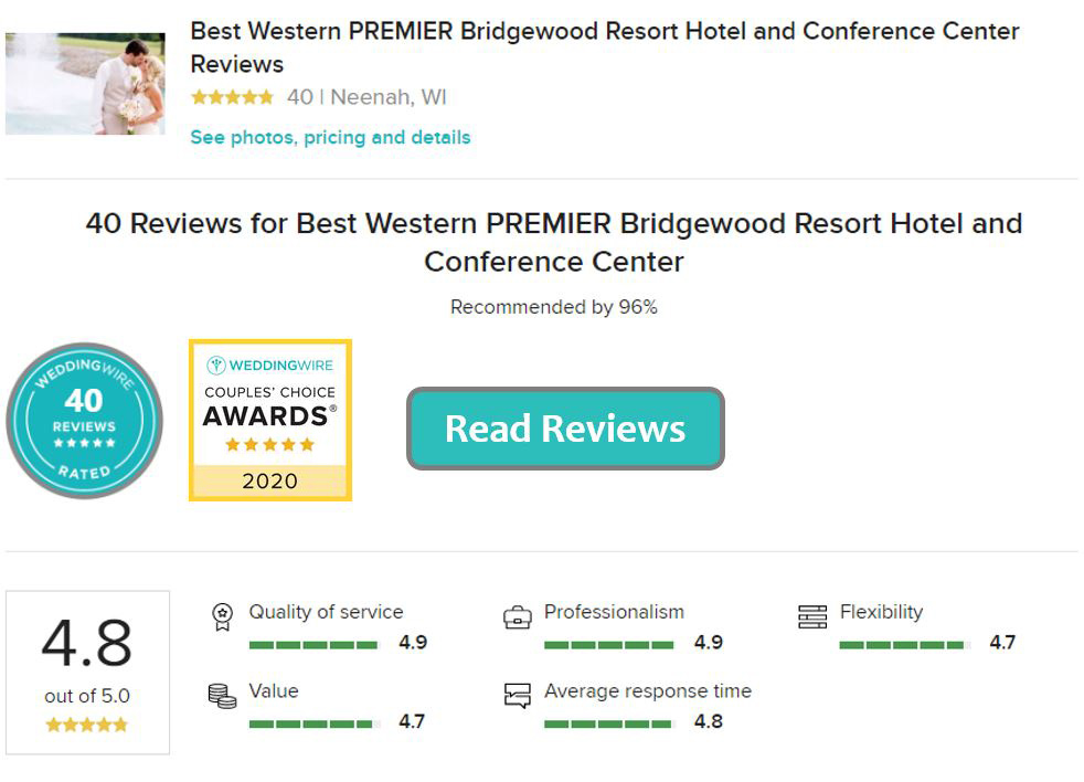 Bridgewood Resort and Hotel on Wedding Wire
